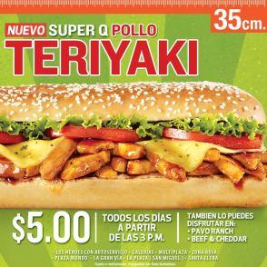 nuevo super q pollo Teriyaki QUIZNOS el salvador - nov13