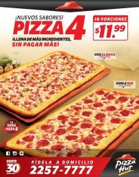 promociones Pizza HUT pizza 4 nuevos sabores - 25nov13