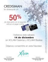 CREDISIMAN te obsequia un descuento en productos XCLAIM - 13dic13
