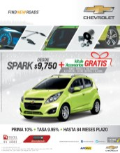 Chevrolet SPARK saving discounts - 05dic13
