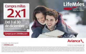 Compra millas 2x1 LIFE MILES Avianca - 23dic13