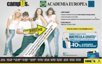 Descuentos en matricula Academia Europea - 03dic13