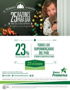 Descuentos en todos los SUPERMERCADOS en navidad Banco Promerica - 23dic13