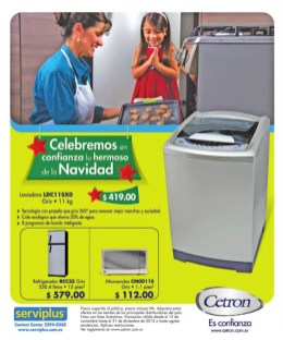 Electrodomesticos CETRON producto serviplus - 19dic13