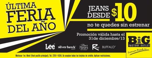 Feria de JEANS big outlet factory - 30dic13