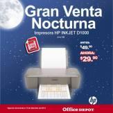 Gran venta noctura Impresora HP inkJet office depot
