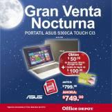 Gran venta noctura office depot Portatil ASUS