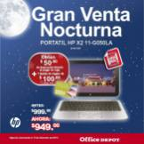 Gran venta noctura office depot Portatil HP