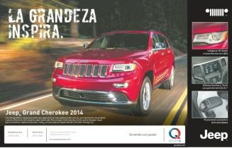 JEEP grand chekokee 2014 promotion GRUPO Q