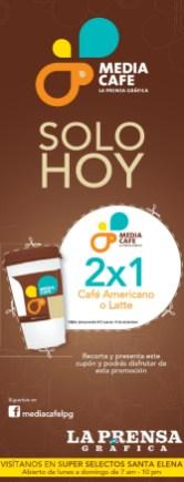 Media Cafe La Prensa Grafica promocion 2x1 - 19dic13