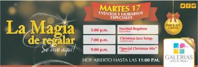 NAvidad en GALERIAS eventos de hoy - 17dic13