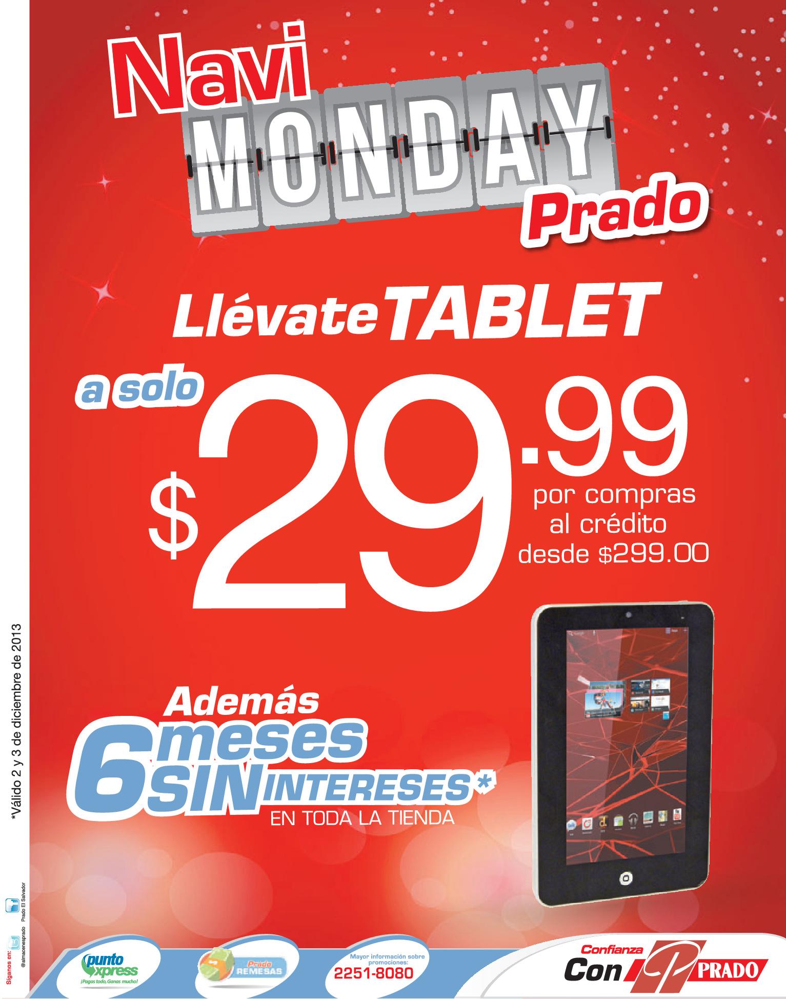 Navi Monday con PRADO promociones - 02dic13