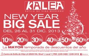 New Year BIG SALE la gran via KALEA - 26dic13