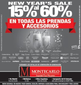 New year SALE promotion MONTECARLO imported menswear - 26dic13