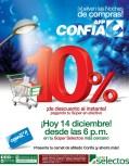 Noches de compras en SUPER SELECTOS con AFP Confia -14dic13