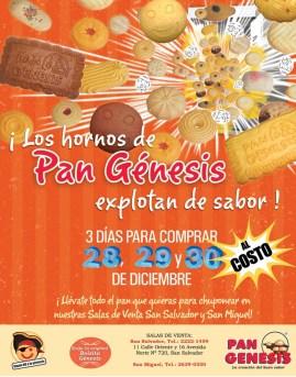 Pan dulce al costo PAN GENESIS el salvador - 28dic13