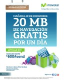 Promociones MOVISTAR regalo internet gratis - 19dic13