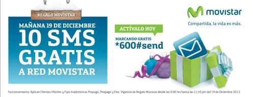 Regalo MOVISTAR mañana 10 SMS GRatis - 18dic13