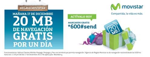 Regalo MOvistar mañana navegacion GRATIS - 16dic13