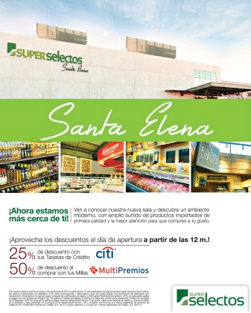 Super Selectos Santa Elena listo para ti DESCUENTOS - 02dic13
