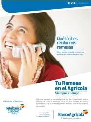 Tu remesa en el Banco Agricola - 03dic13