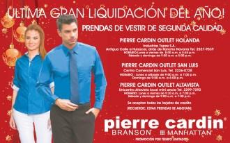 Ultima gran liquidacion del año PIERRE CARDIN - 06dic13