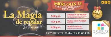 Vive la navidad en GALERIAS eventos de hoy - 18dic13