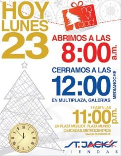horario navidad STA JACKS tiendas - 23dic13