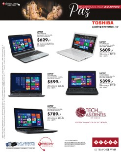 promotion Laptops TOSHIBA leading innovation SIMAN - 10dic13