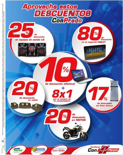 Almacenes Prado El Salvador descuentos en tablets laptops motos - 22ene14