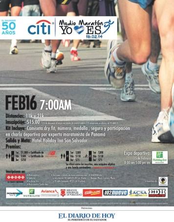 CITI medio maraton yo amo el salvador - 31ene14