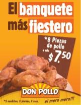Piezas de pollo DON POLLO banquete fiestero - 15ene14