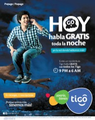 Promociones TIGO hoy habla GRATIS toda la noche - 08ene14