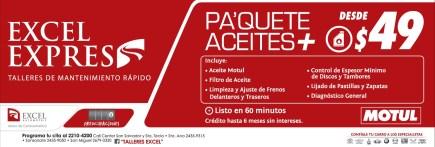 Taller Excel Express cambio de aceite - 30ene14