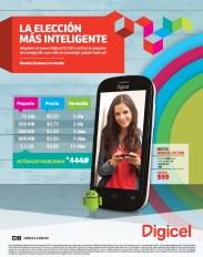 Telefono DIGICEL con ANDROID navega internet 4G - 08ene14