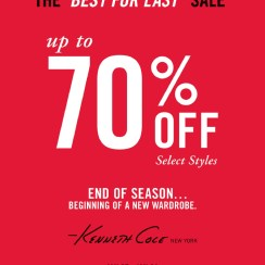 The BEST FOR LAST sale KENNETH COLE el salvador