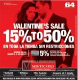 VALENTINE SALE descuentos Montecarlo el salvador - 31ene14
