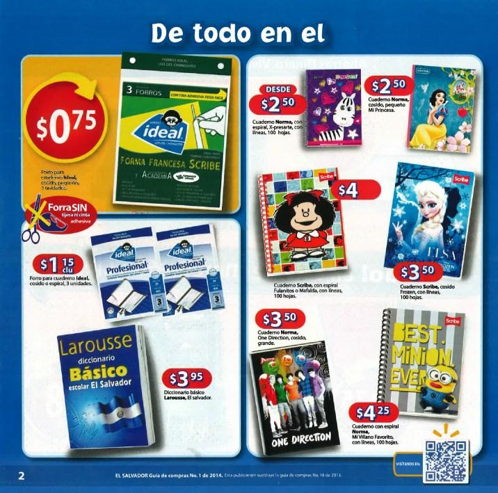Walmart cuadernos y utiles escolares Guia de Compras 2014 No1