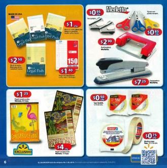 Walmart libretas papel cintas Guia de Compras 2014 No1