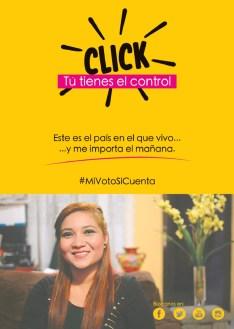 da CLICK tu tienes el control #MiVotoSiCuenta Elecciones 2014 el salvador