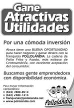 franquicias PolloLandia centroamerica GANA utilidades emprendedores