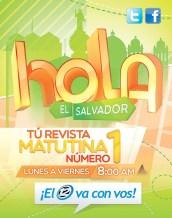 hola El Salvador revista matutina CANAL 12