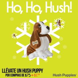 hush puppies promocion peluche