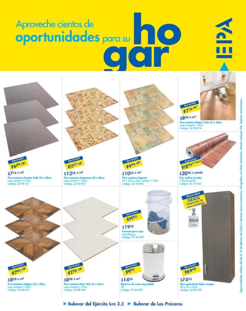 Descuentos Ofertas PISOS oportunidades hogar EPA el salvador - 06feb14