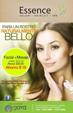 Essence Facial Masaje rostro bello promoción del 23 al 28 feb 2014
