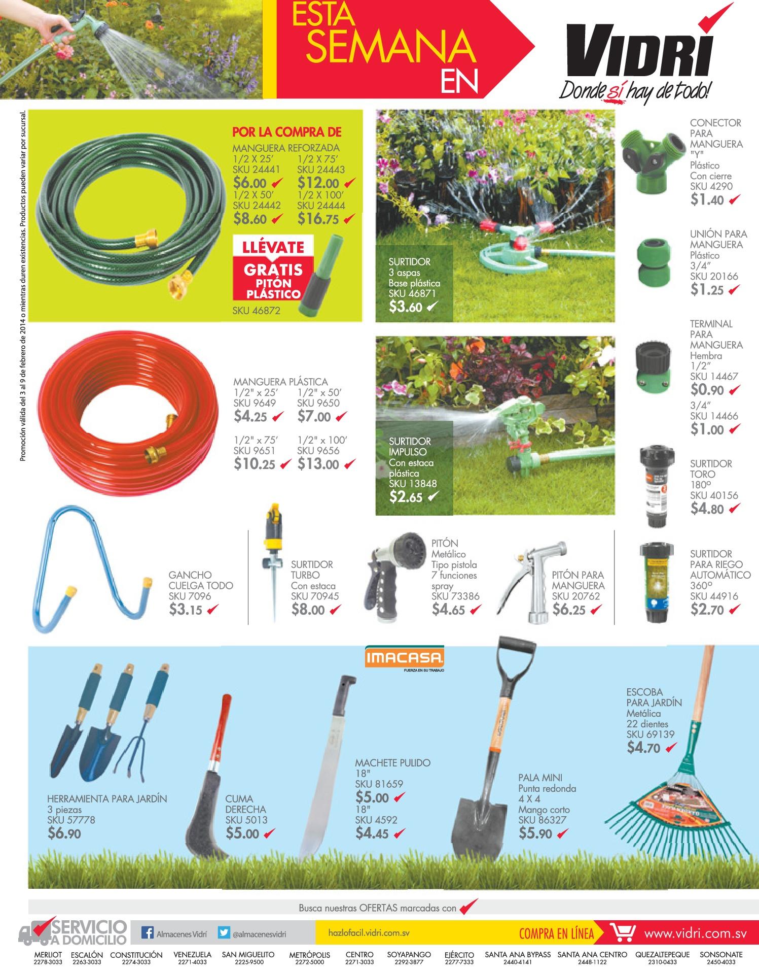 Ferreteria vidri el salvador ofertas for Accesorios jardineria