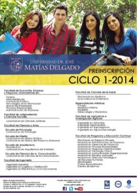 Ofertas acedemica Universidad Jose Matias Delgado el salvador - 06feb14