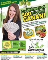 Pesenta este ANUNCIO y GANA La Cornucopia Unicentro Metropolis - 24feb14