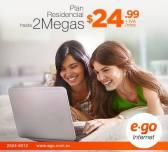 Plan residencial 2 mega ego internet