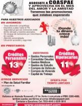 Promociones en creditos y depositos COASPERL
